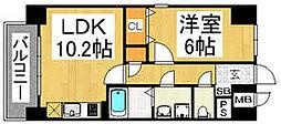 福岡県福岡市中央区西公園の賃貸マンションの間取り