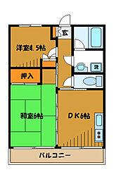 東京都国分寺市西恋ケ窪の賃貸マンションの間取り