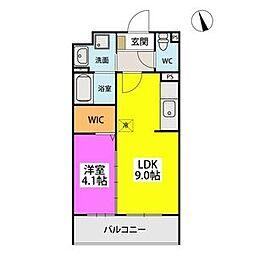 SOPHIA TOKUNAGA III 5階1LDKの間取り