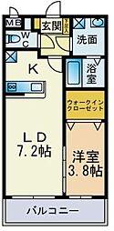 プレミールNakamaIII[302号室]の間取り