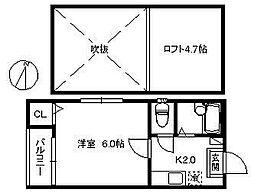 ポラリス藤崎II[101号室]の間取り