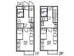 レオパレスHIDE 27[2階]の間取り