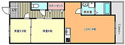 藤ハイツ[3階]の間取り