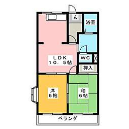ベジタブルハイムA棟[1階]の間取り