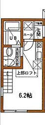 神奈川県横浜市南区大岡1丁目の賃貸アパートの間取り