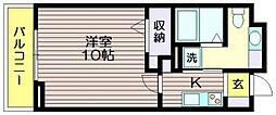 東京都調布市若葉町2の賃貸マンションの間取り