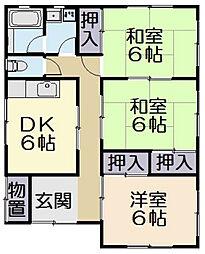 [一戸建] 三重県松阪市駅部田町 の賃貸【/】の間取り