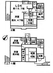 [一戸建] 神奈川県横浜市港南区日限山3丁目 の賃貸【/】の間取り