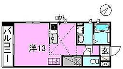 サクラガーデン[208 号室号室]の間取り