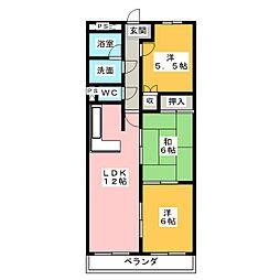 アネックス高田[2階]の間取り