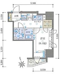 リヴシティ文京本郷[11階]の間取り