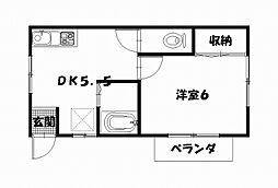 コーポYU−RAKU[1F号室]の間取り