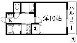 Comfortable川西[2階]の間取り