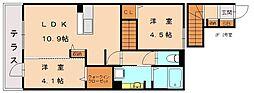 KISHI HEIGHTS(キシハイツ)[2階]の間取り