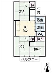 ハイホームアキタ[2階]の間取り