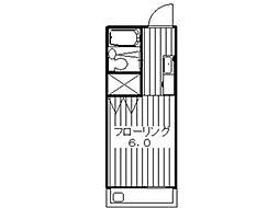 マンションスリーG[2階]の間取り