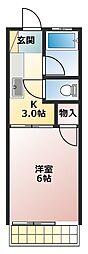 第15アオイビル[2階]の間取り