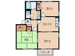 フォーレス加納[2階]の間取り