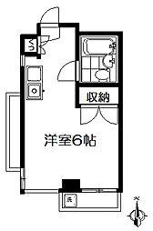 東京都練馬区関町東1丁目の賃貸マンションの間取り