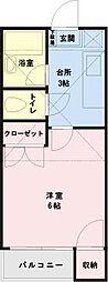 JR京葉線 新浦安駅 徒歩25分の賃貸アパート 1階1Kの間取り