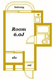メンバーズルーム横浜[2階]の間取り