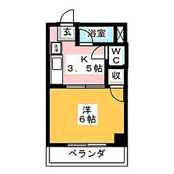 サニーコーポ[2階]の間取り