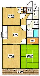 サテライト武庫之荘2[2階]の間取り