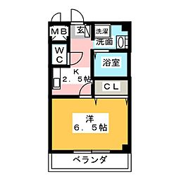K・ドミール50[1階]の間取り