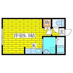 エーワンコートI[2階]の間取り