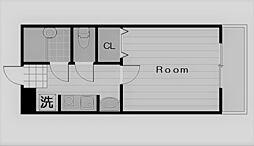 アーバンジャングルプレース174n[2階]の間取り