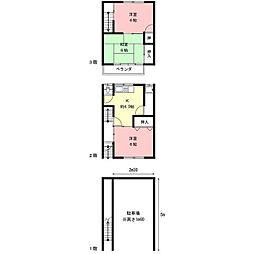 加納本町7丁目アパート[1階]の間取り