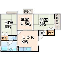 セジュール・ティーエム2[2階]の間取り