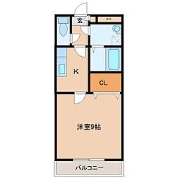 ベストポルタ 3階1Kの間取り