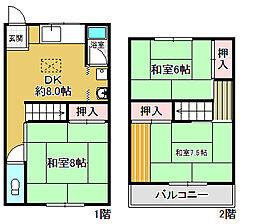 [テラスハウス] 大阪府箕面市粟生外院2丁目 の賃貸【/】の間取り