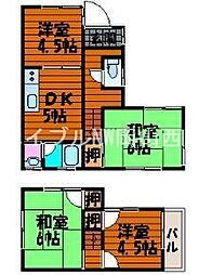 [一戸建] 岡山県岡山市南区浦安西町 の賃貸【/】の間取り