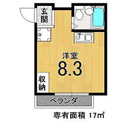 M'S HOUSE[203号室]の間取り