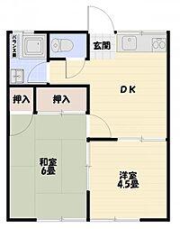 舟倉アパートA[102号室]の間取り