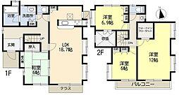 [一戸建] 埼玉県加須市花崎北4丁目 の賃貸【/】の間取り