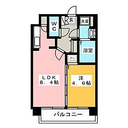 福岡県福岡市博多区千代1丁目の賃貸マンションの間取り