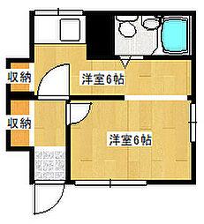 兵庫県神戸市灘区篠原中町3丁目の賃貸アパートの間取り