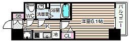 メインステージ京町堀 4階1Kの間取り