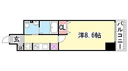 EXCEL COURT 神戸長田[801号室]の間取り