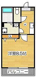 サンヴァイオレットIII番館[1階]の間取り