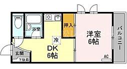 香川県高松市番町3丁目の賃貸マンションの間取り