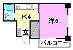 ジョイフルハウス[201 号室号室]の間取り