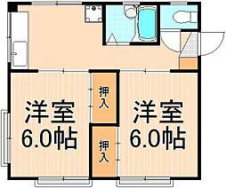 第二楠ビル[3階号室]の間取り