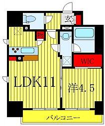 テラス文京本郷 2階1LDKの間取り