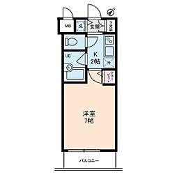 アムス門前仲町 富岡[4階]の間取り