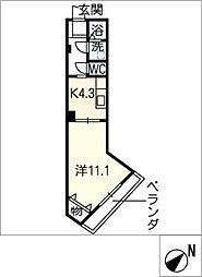 アートプレイスT2[5階]の間取り