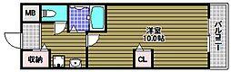 竹城台ハイツMK[2階]の間取り